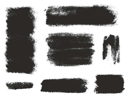 eroded: Paint Roller Strokes Vector Patterns & Vector Backgrounds Set 12