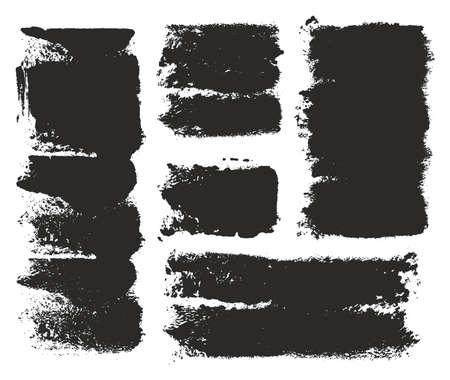 eroded: Paint Roller Strokes Vector Patterns & Vector Backgrounds Set 08 Illustration