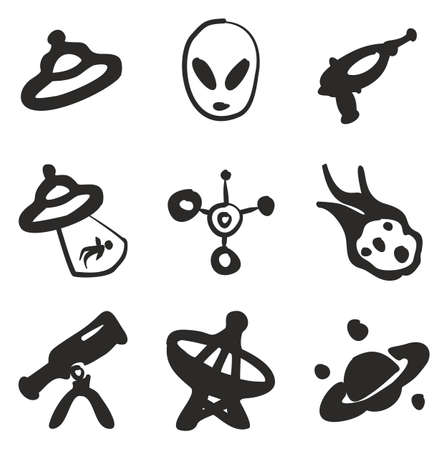Alien Icons Freehand Fill
