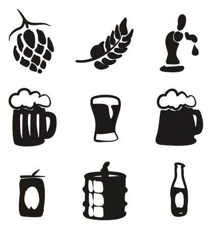beers: Beer Icons Freehand Fill