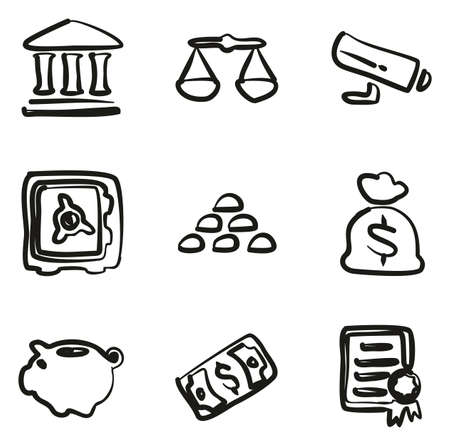 colum: Bank Icons Freehand