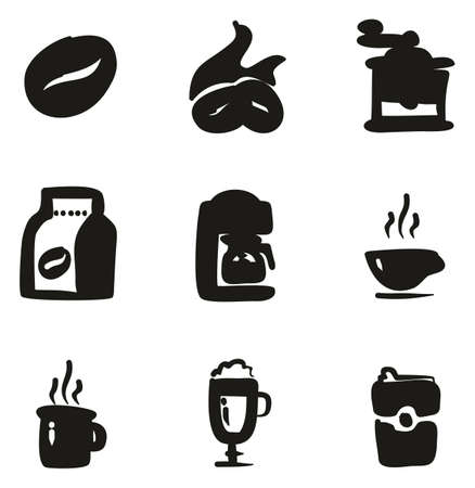 Coffee Icons Freehand Fill