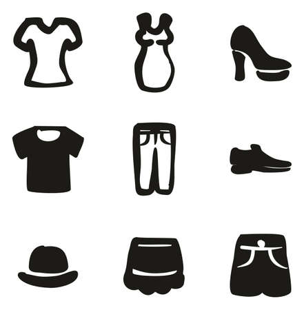 Clothing Icons Freehand Fill