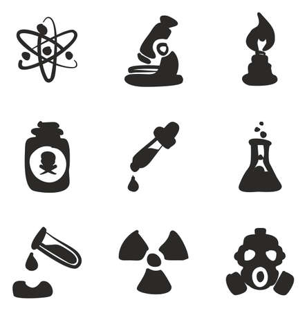 Chemistry Icons Freehand Fill