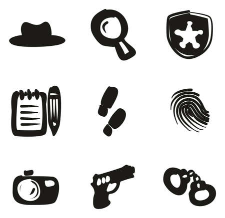 Detective Icons Freehand Fill