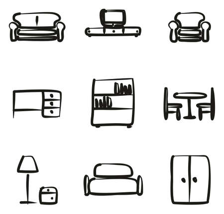 Furniture Icons Freehand