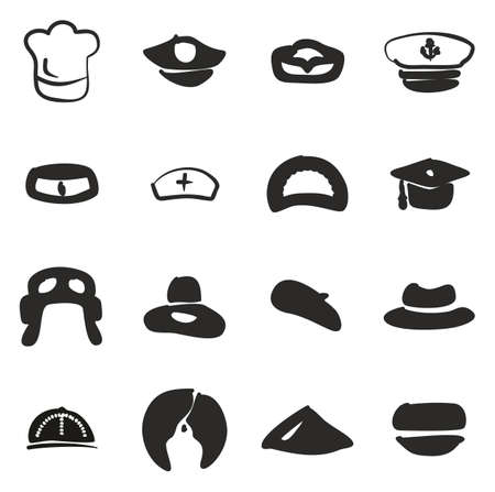 sexy army: Hat Icons Freehand Fill