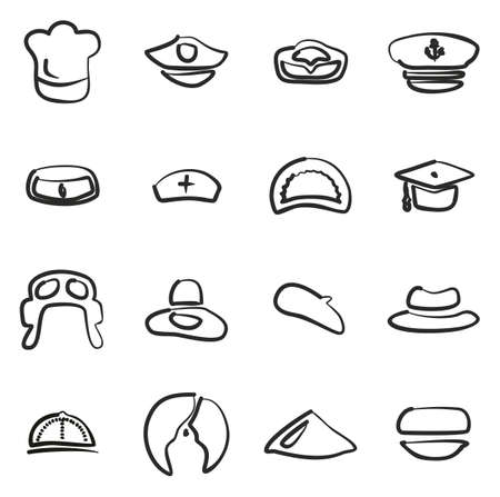 sexy army: Hat Icons Freehand