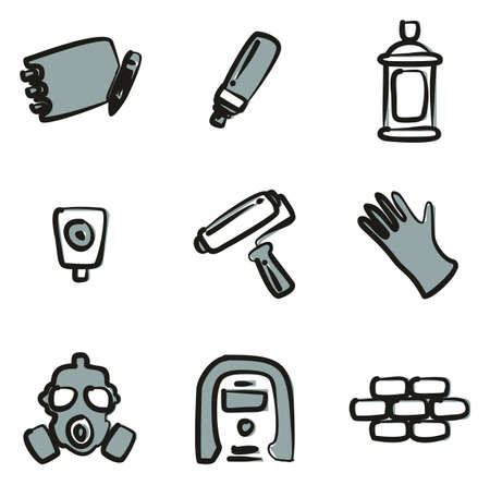 paint can: Graffiti Icons Freehand