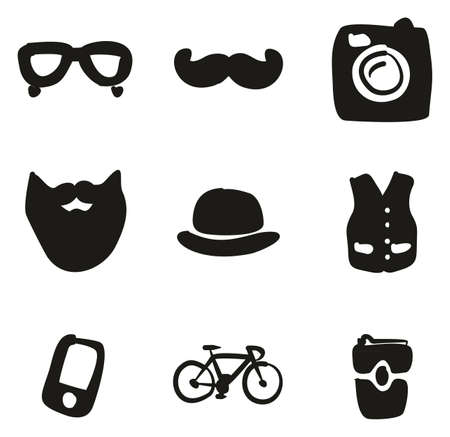 Hipster Icons Freehand Fill