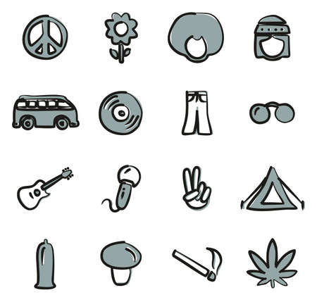 vw: Hippie Icons Freehand 2 Color