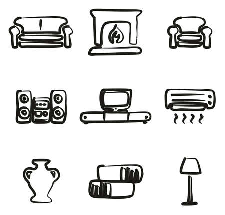 Living Room Icons.