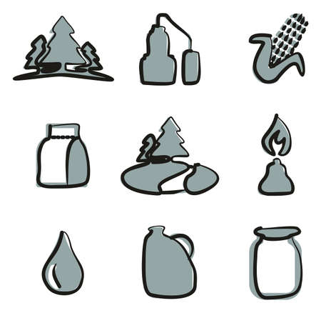 moonshine: Moonshine Icons Freehand 2 Color Illustration