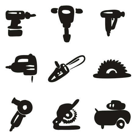 Power Tools Icons Freehand Fill