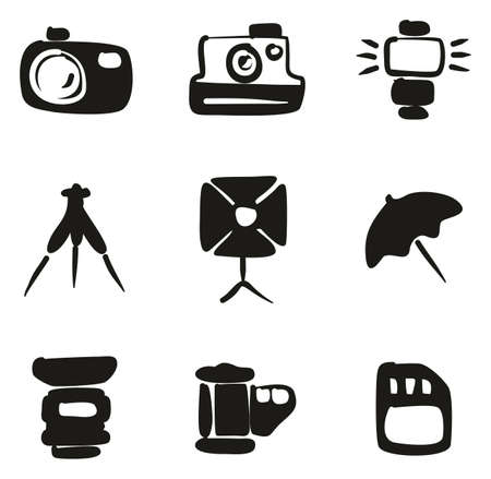 Photography Icons Freehand Fill