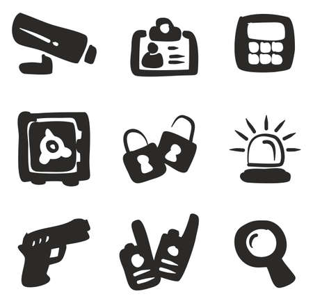 tresspass: Security Icons Freehand Fill.