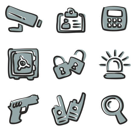 tresspass: Security Icons Freehand Color.
