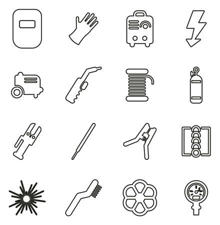 Welding Icons Set Stock Vector - 87989450