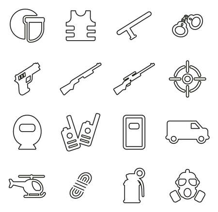 SWAT team related icon.