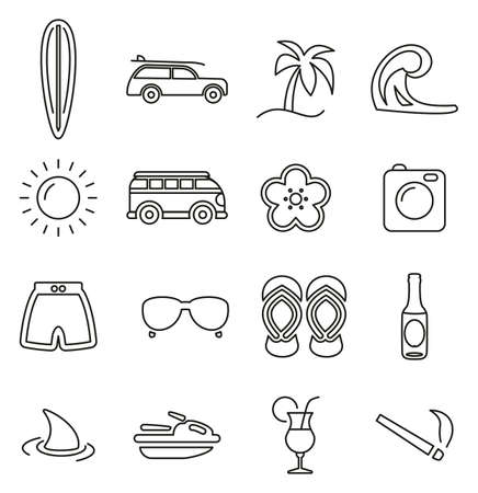 Surfing sports related icon. Иллюстрация