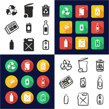 Recycling related icon. Illustration