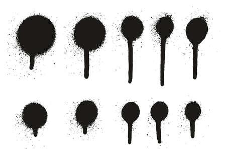spray paint high detail drip dots abstract vector backgrounds rh 123rf com drip vector brush drop vector