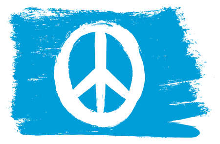 Peace flag vector hand painted with rounded brush.