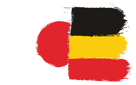 Japan and Germany flag vector illustration