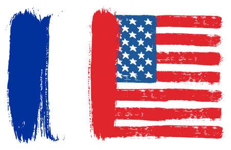 France Flag Ilustracja