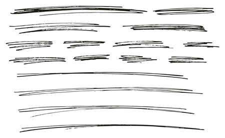 Pen Strokes Thin Line & Background Set 14