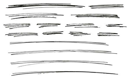 Pen Strokes Thin Line & Background Set 14