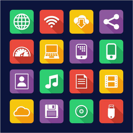 Download Icons Flat Design 矢量图像