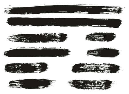 Paint Brush Lines High Detail Abstract Vector Background Set 64