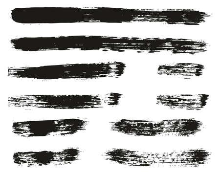 Paint Brush Lines High Detail Abstract Vector Background Set 62 Ilustração