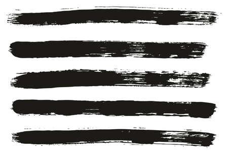 Paint Brush Lines High Detail Abstract Vector Background Set 07 Ilustração