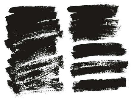 Paint Brush Background High Detail Abstract Vector Background Set 143 Ilustração