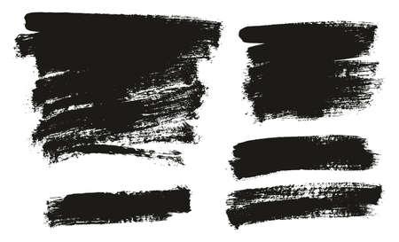 Paint Brush Background High Detail Abstract Vector Background Set 136 Ilustração