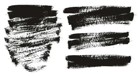 Paint Brush Background High Detail Abstract Vector Background Set 79 Ilustração