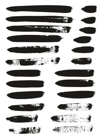 Calligraphy Paint Brush Lines Mix High Detail Abstract Vector Background Ilustração
