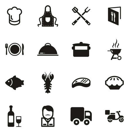 Catering Business Icons Vettoriali
