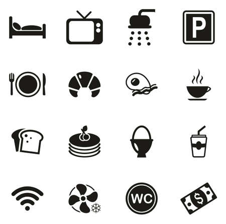 Bed and Breakfast Icons