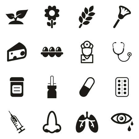 Allergy or Hypersensitivity Icons