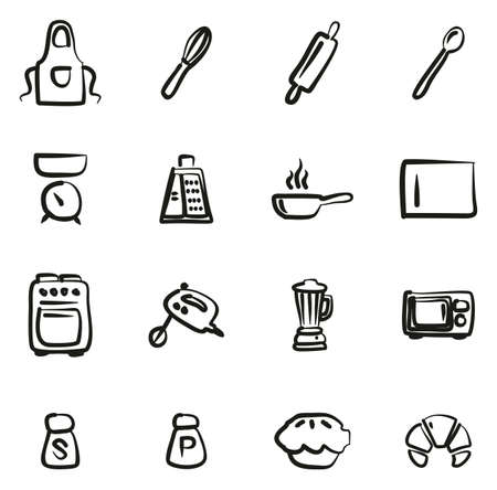 Baking or Cooking Icons Freehand