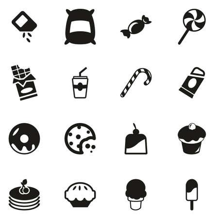 Sugar or Sugar Food Icons