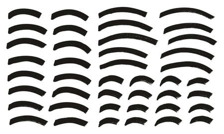 Tagging Marker Medium Curved Lines High Detail Abstract Vector Background Set 159