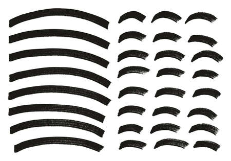 Tagging Marker Medium Curved Lines High Detail Abstract Vector Background Set 87