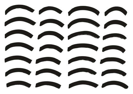 Tagging Marker Medium Curved Lines High Detail Abstract Vector Background Set 54