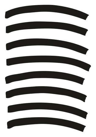 Tagging Marker Medium Curved Lines High Detail Abstract Vector Background Set 13 Ilustração