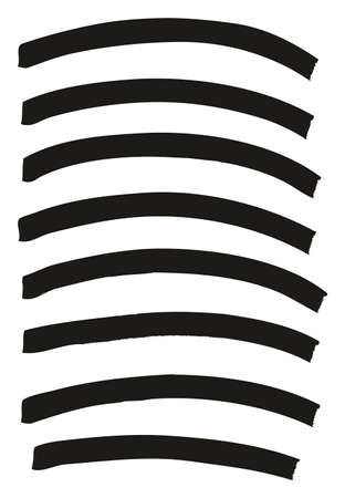 Tagging Marker Medium Curved Lines High Detail Abstract Vector Background Set 10