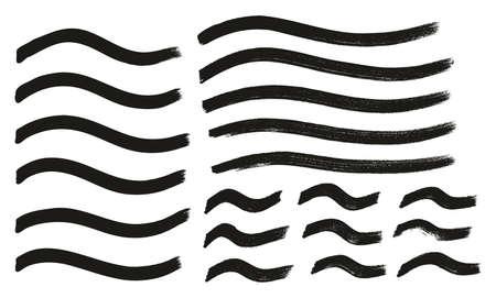 Tagging Marker Medium Wavy Lines High Detail Abstract Vector Background Ilustração
